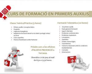 Curso de formación de primeros auxilios. Imagen de Alerta Prevenció